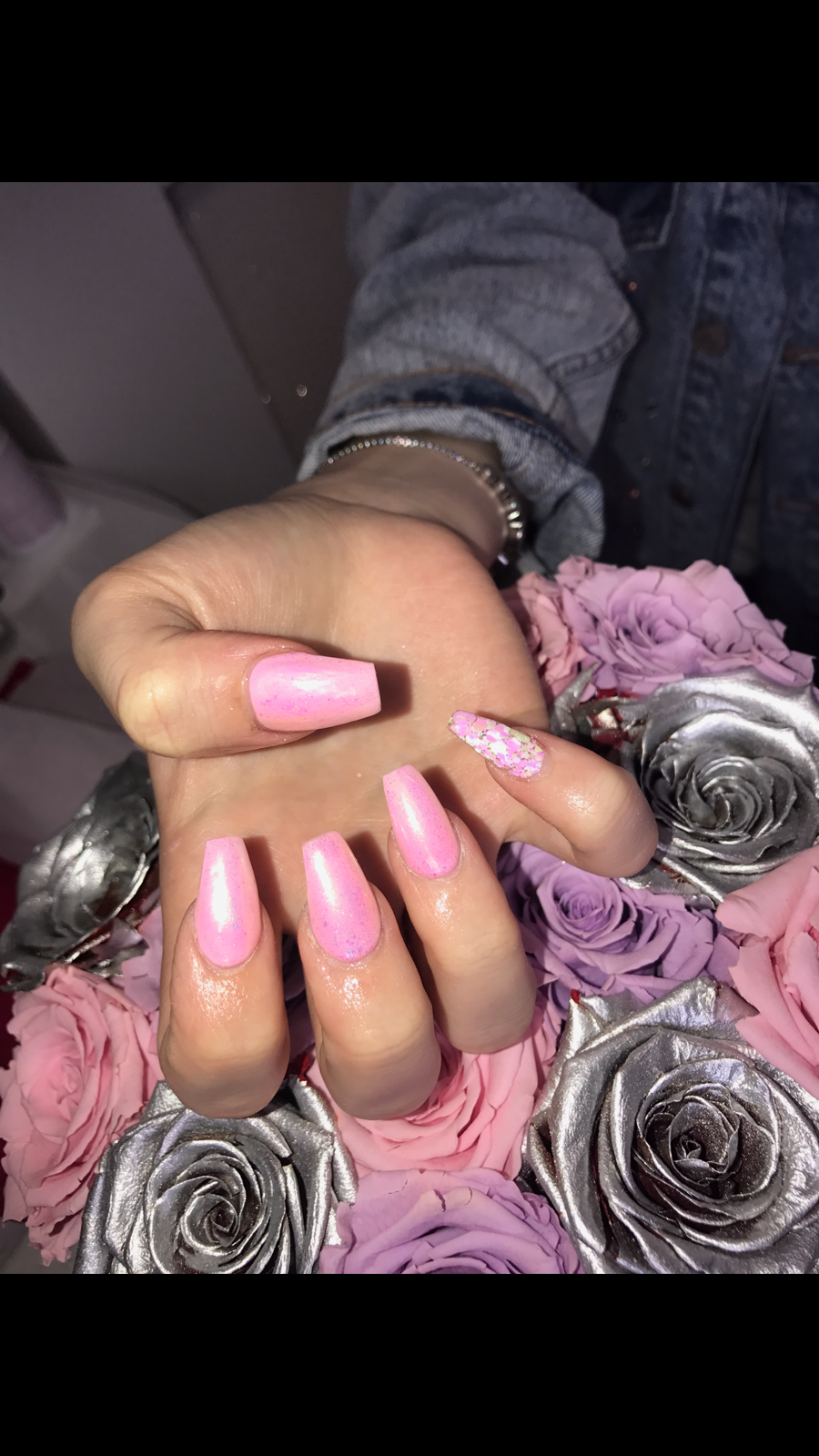 Acrylic Extensions With Full chrome