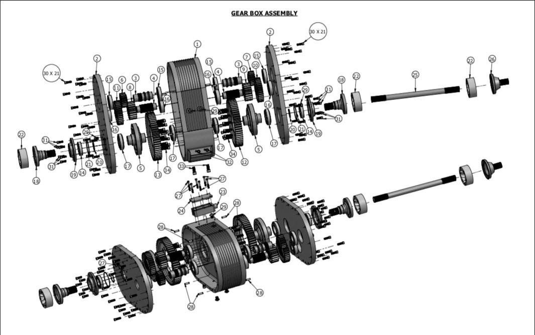 Dual-Motor ev-Gearbox