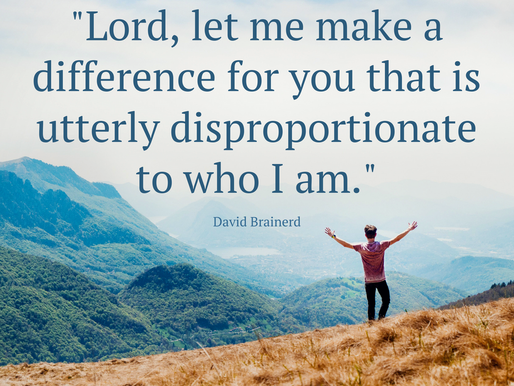 """Lord, let me make a difference for you"