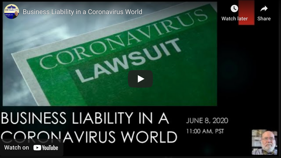 BUSINESS LIABILITY IN A CORONAVIRUS WORLD