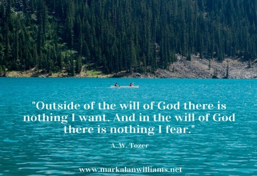 Outside The Will Of God There Is Nothing I Want.