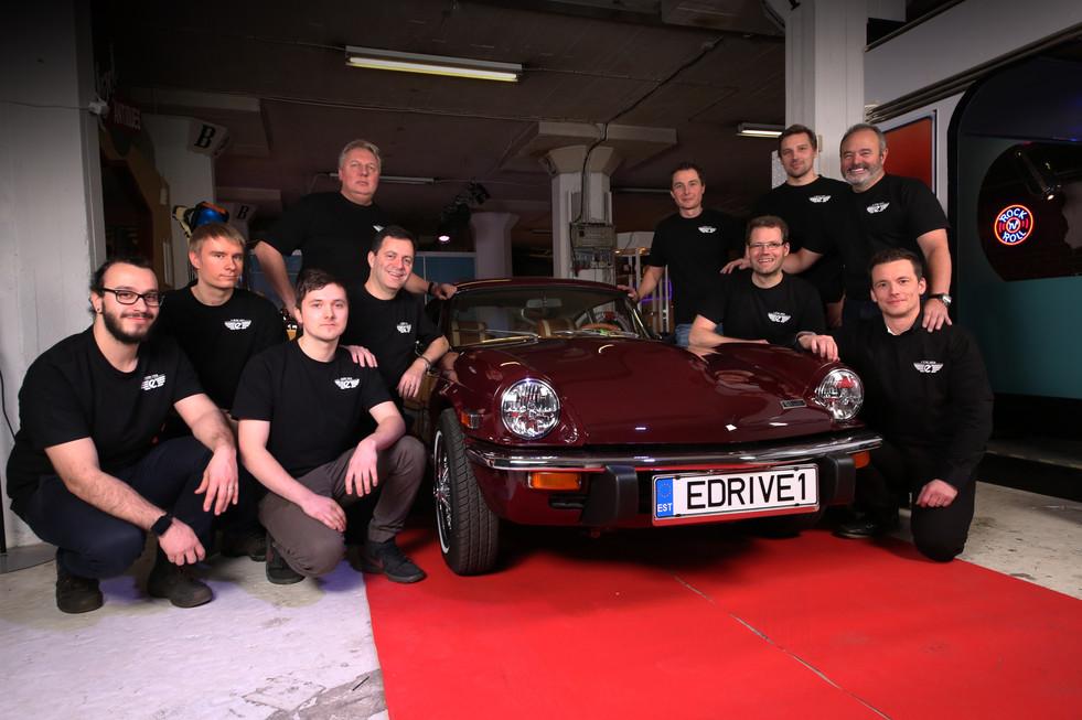 Michael Richardson and his EV Drive Retro Team