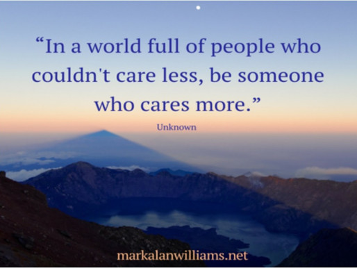 In a world full of people who couldn't care less,