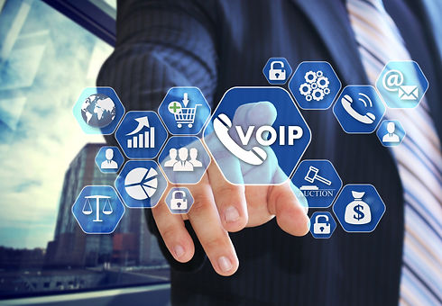 The businessman chooses VOIP on the virt