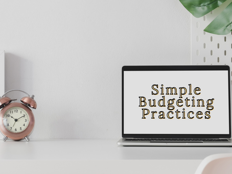 Simple Budgeting Practices