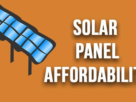 Solar Panel Affordability