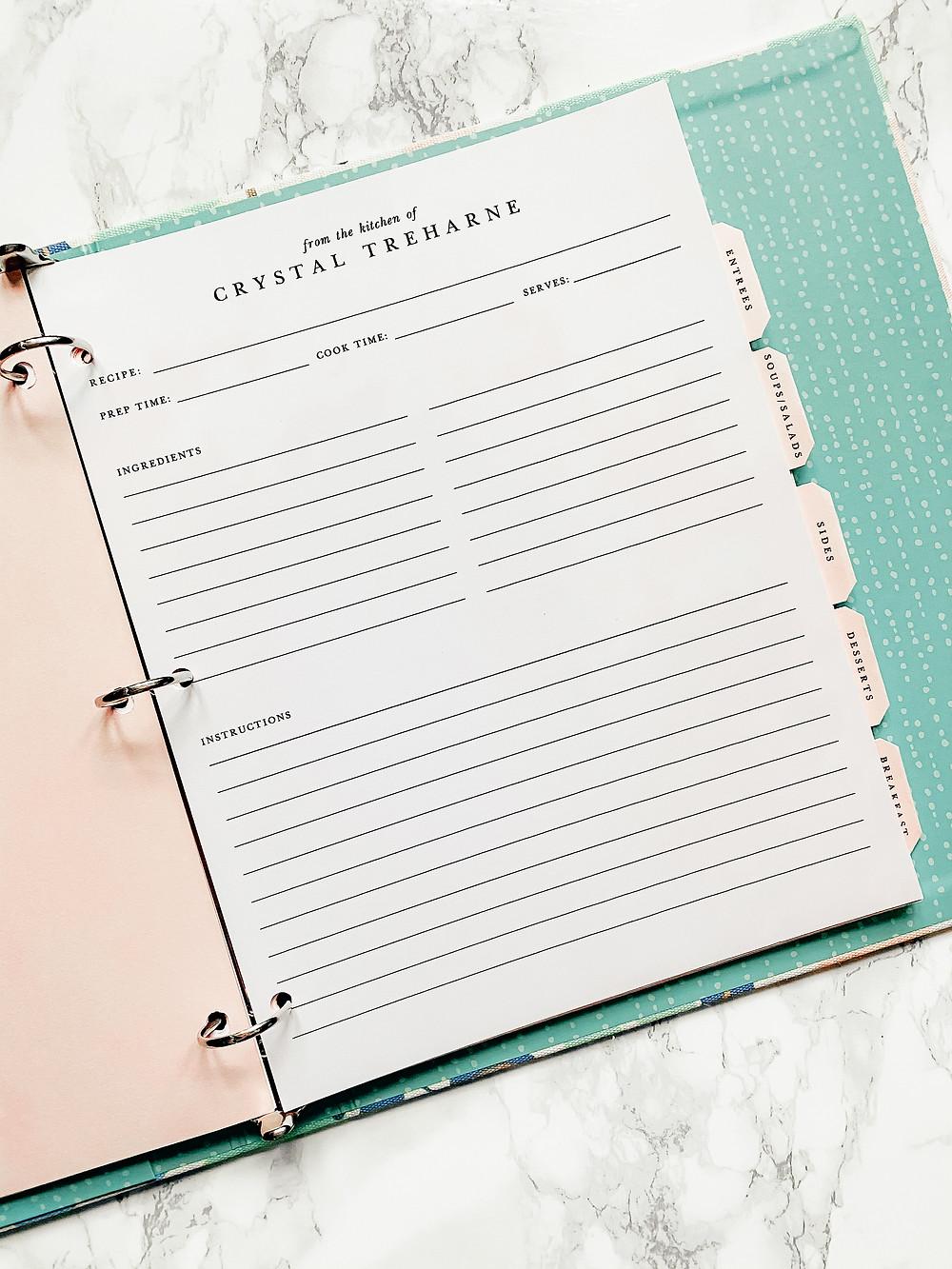 Freebie - Meal Planning Printable
