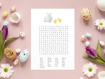 Freebie - Easter Word Search Printable