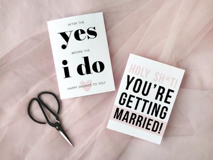 Freebie - Bridal Shower Cards