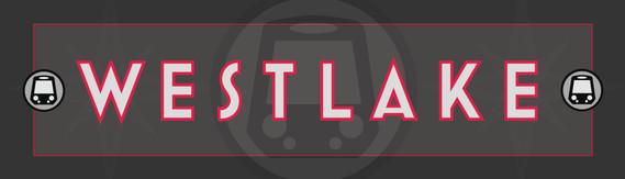 Veil - Westlake Metro Station Sign