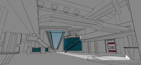 the Shape of Water - White Sketchup Model
