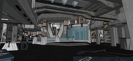 the Shape of Water - Coloured Sketchup Model