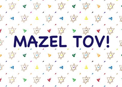 Black Monday - Bar-mitzvah Card