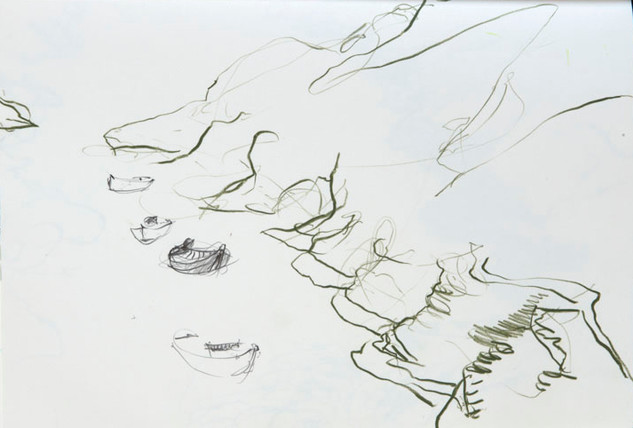 Sketch of Russell's View II, Belle Ile