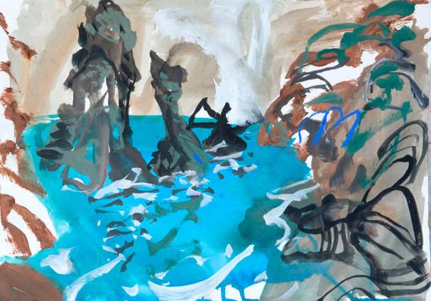 Study for High Tide II, Belle Ile
