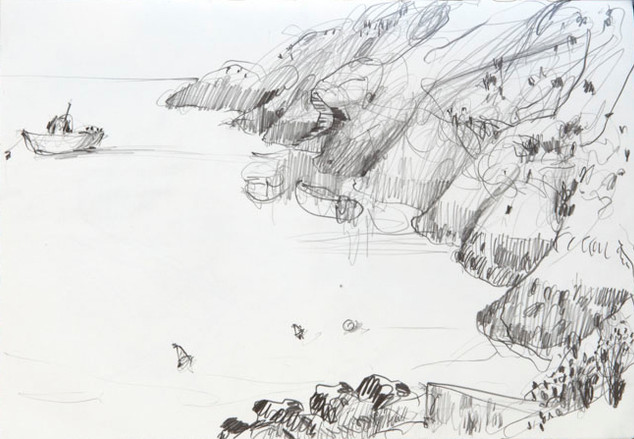 Sketch of Russell's View, Belle Ile