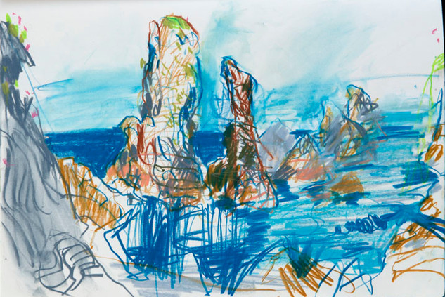 Sketch for Pinnacles Between, Belle Ile