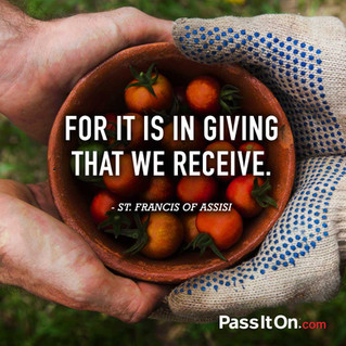 It is in Giving...