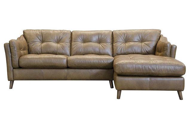 Saddler Leather RHF Chaise Sofa