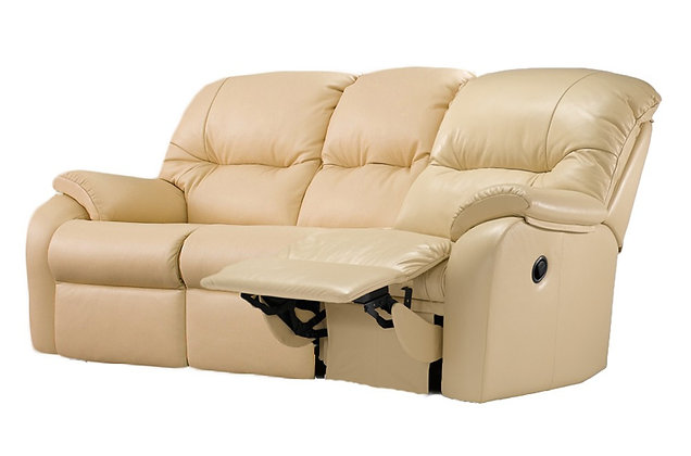 G Plan Mistral Leather Right Hand Facing Single Manual 3 Seater Recliner Sofa