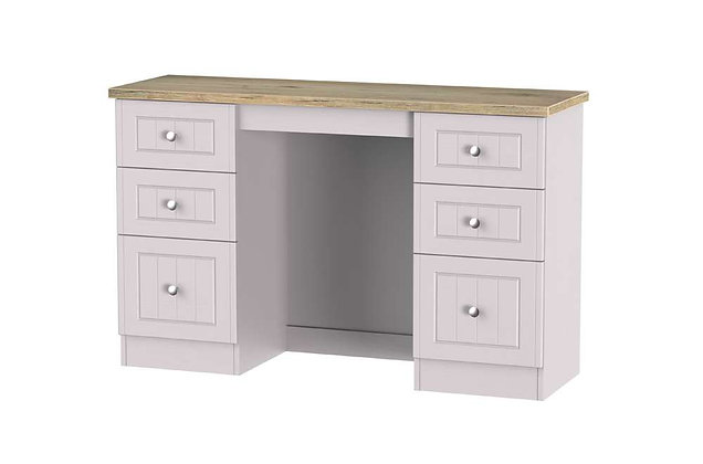 Welcome Bedroom Vienna 6 Drawer Kneehole Dressing Table