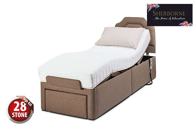 Sherborne Dorchester 75cm Small Single Head & Foot Adjustable Divan Bed