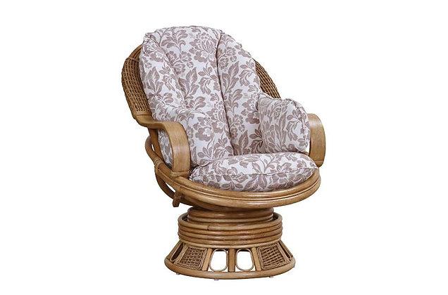 Bari Cane Swivel Rocker Chair