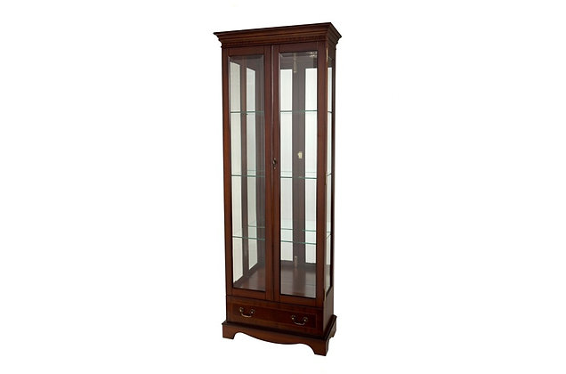 Ashmore Simply Classical Tall China Display Cabinet with Drawer