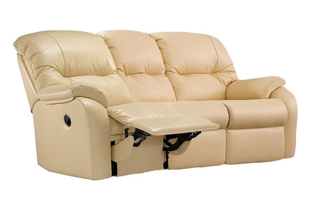 G Plan Mistral Leather Left Hand Facing Single Manual 3 Seater Recliner Sofa