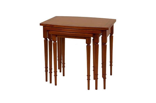 Ashmore Simply Classical Barrel Top Nest Of 3 Tables