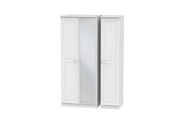 Welcome Bedroom Warwick Triple Wardrobe with Mirror