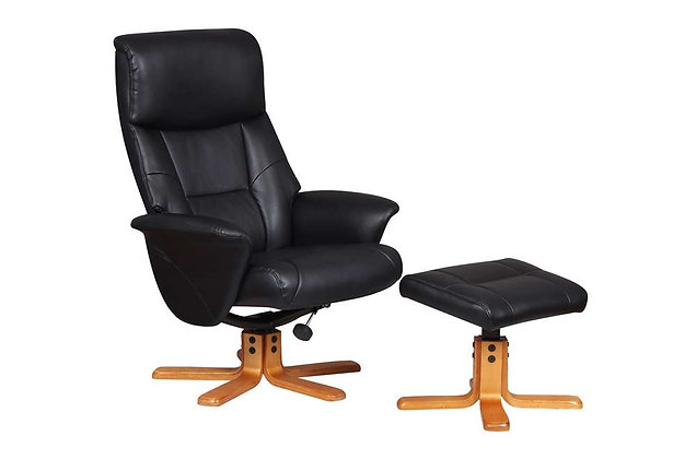 Marseille Swivel Recliner Chair & Footstool
