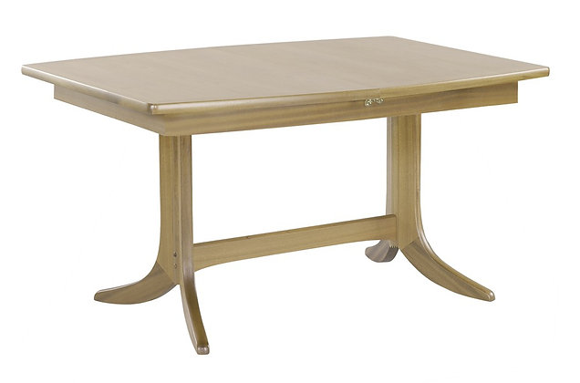 Shades Oak Small Boat Shaped Dining Table on Pedestal