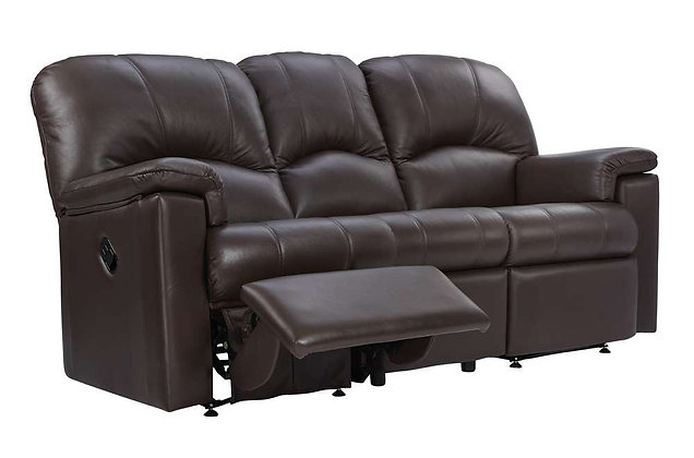 G Plan Chloe Leather Left Hand Facing Single Manual 3 Seater Recliner Sofa