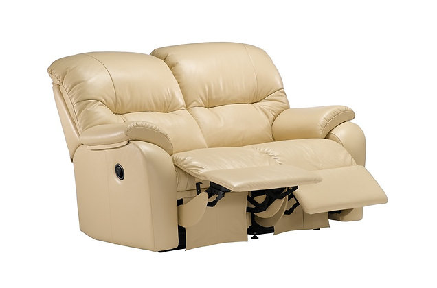 G Plan Mistral Leather Double Power 2 Seater Recliner Sofa
