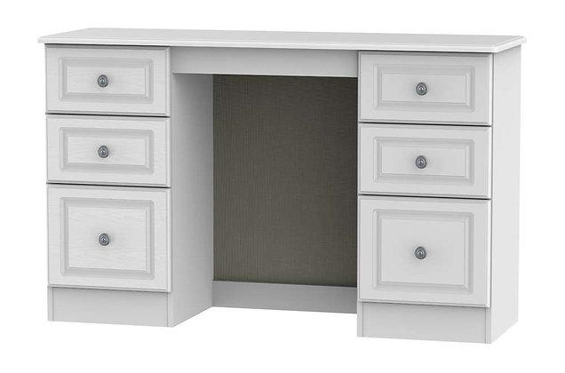 Pembroke 6 Drawer Kneehole Dressing Table