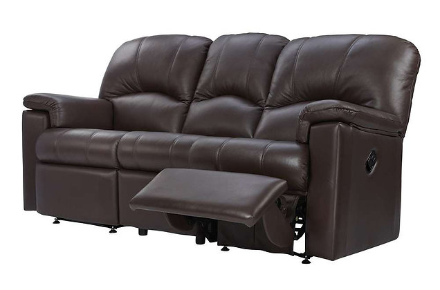 G Plan Chloe Leather Right Hand Facing Single Manual 3 Seater Recliner Sofa