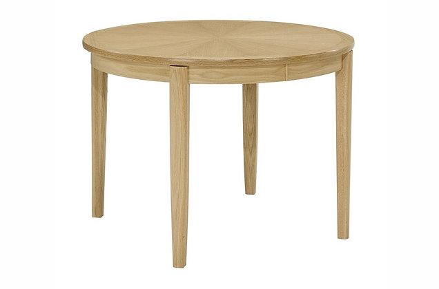 Shades Oak Circular Dining Table on Legs