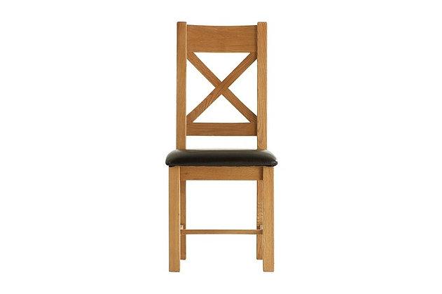 Oakwood Cross Back Padded Seat Chair