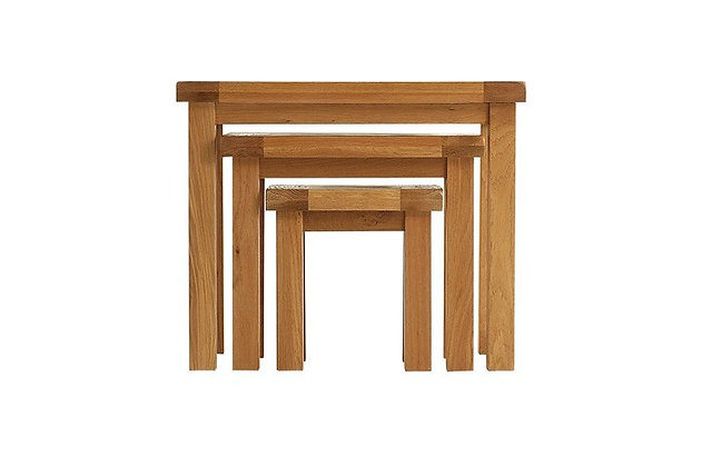Oakwood Nest of 3 Tables