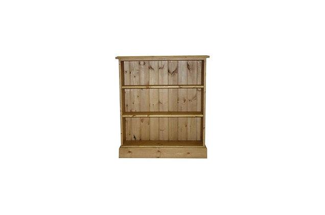 Somerset Pine 2 Shelf Deep Bookcase
