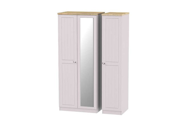Welcome Bedroom Vienna Triple Wardrobe with Mirror