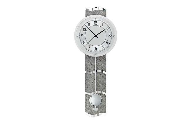 Grey Stone Effect – Radio Controlled Wall Clock (QC 9090)
