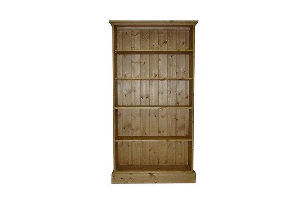 Somerset Pine 4 Shelf Deep Bookcase