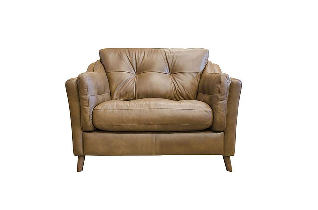 Saddler Leather Snuggler Chair