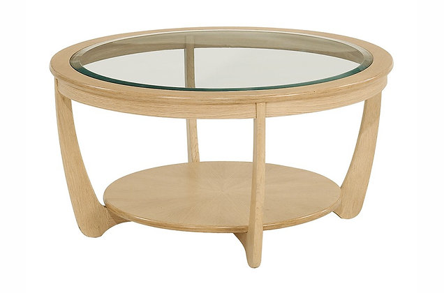 Shades Oak Round Coffee Table