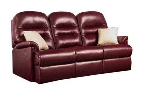 Sherborne Keswick Leather Small 3 Seater Manual Recliner Sofa