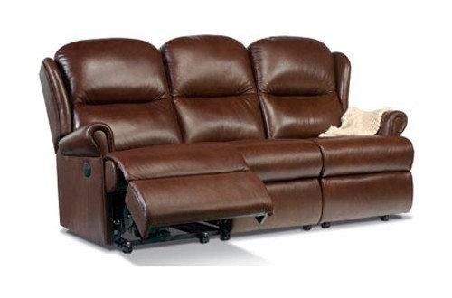 Sherborne Malvern Leather Standard 3 Seater Power Recliner Sofa