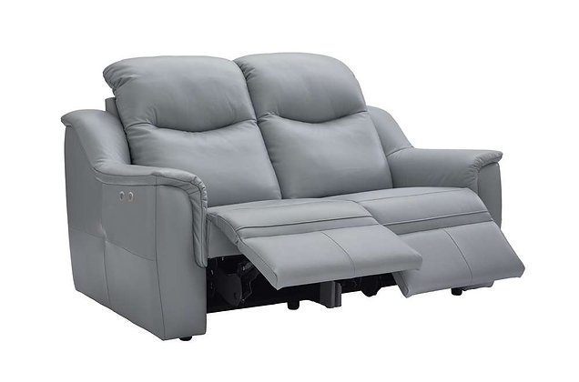 G Plan Firth Leather 2 Seater Double Power Recliner