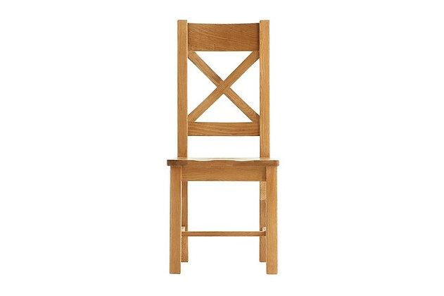 Oakwood Cross Back Wooden Seat Chair